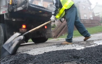 The administration of Mayor Bill Peduto is allocating more money to pothole repair and street paving. (PublicSource)
