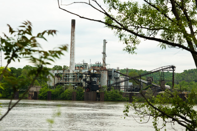 Horsehead Corp.'s zinc smelting plant on the Ohio River.