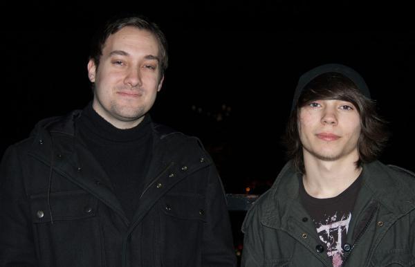 Dyllon Varner, right, 15, and his mentor Adam Matz.