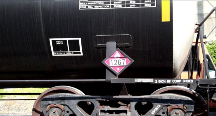 Crude oil train car
