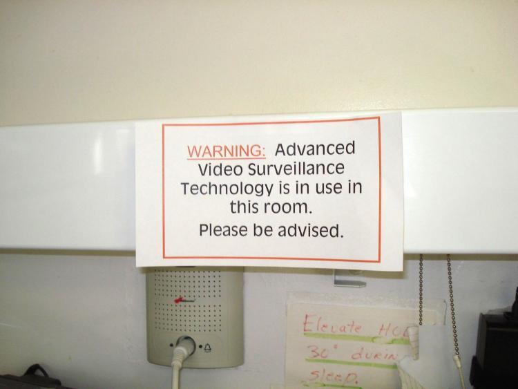 Signs at nursing home