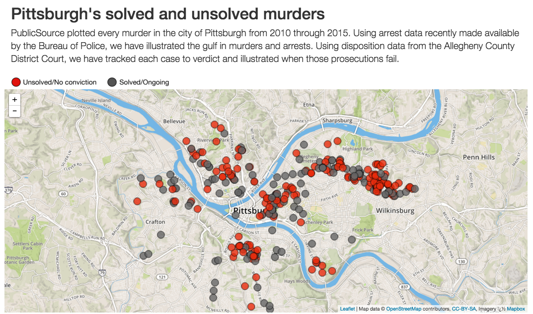 Map Pittsburghs solved and unsolved murders PublicSource