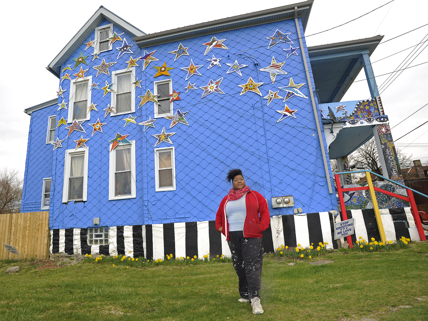"Artist Vanessa German, who turned this Homewood home into an ""Art House"" for youth, said she has experienced resistance when discussing marketing arts grants specifically to minorities. (Photo by Connor Mulvaney/PublicSource)"