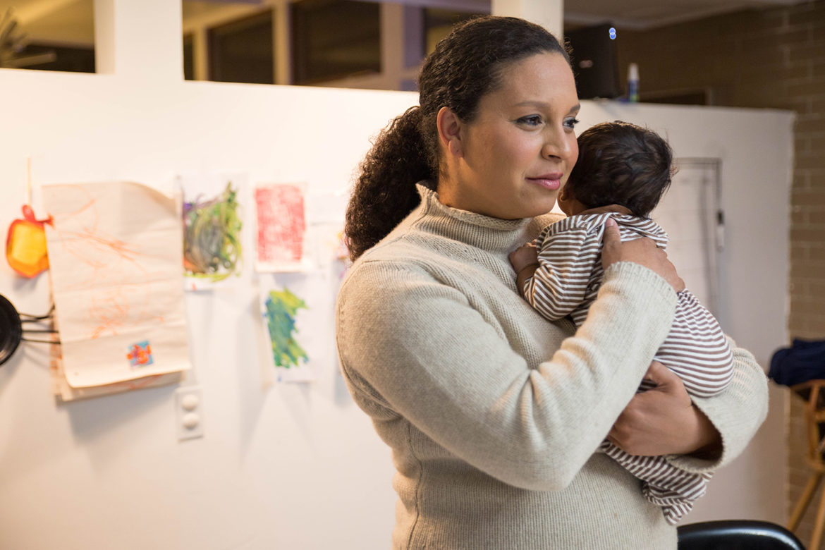 """You need to talk about it, even if you're not the kind of person who talks about things,"" Danielle Sibley says about coping with traumatic childbirth. (Photo by Njaimeh Njie/PublicSource)"