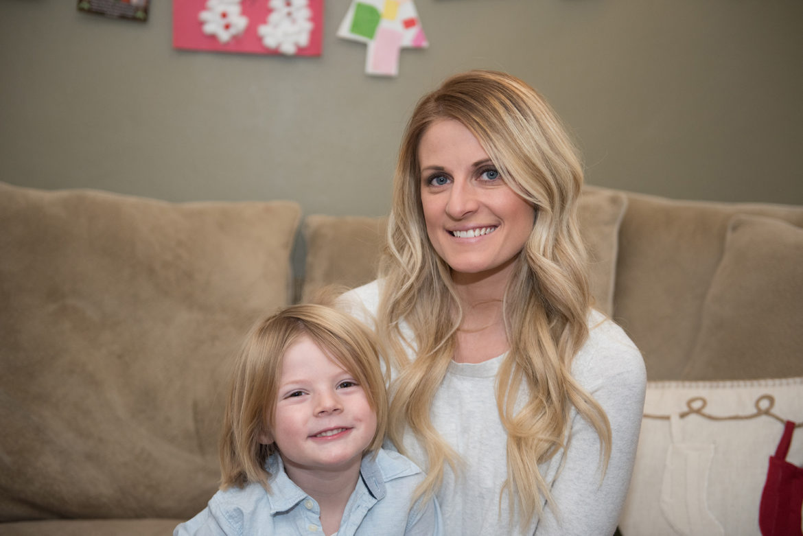 Kristin Koltick explains why she supported Donald Trump's candidacy. She says it's partly due to being a mother to her 4-year-old son, Micah Brockett. (Photo by Sarah Collins/PublicSource)