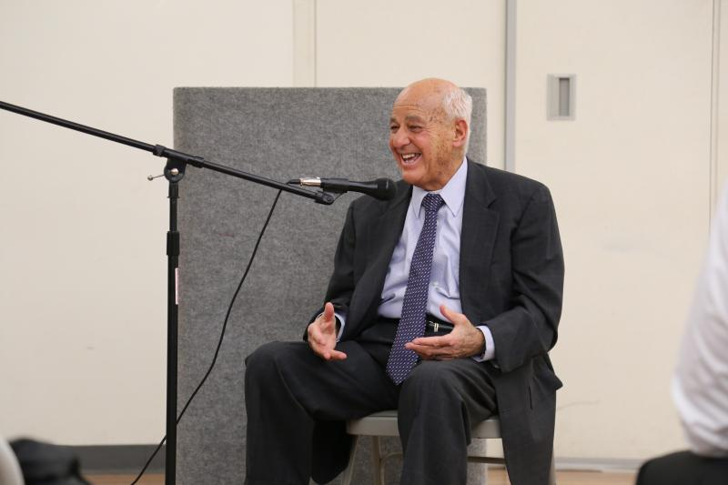 Dr. Cyril Wecht speaking Dec. 7 at a meeting of the Alliance for Police Accountability.