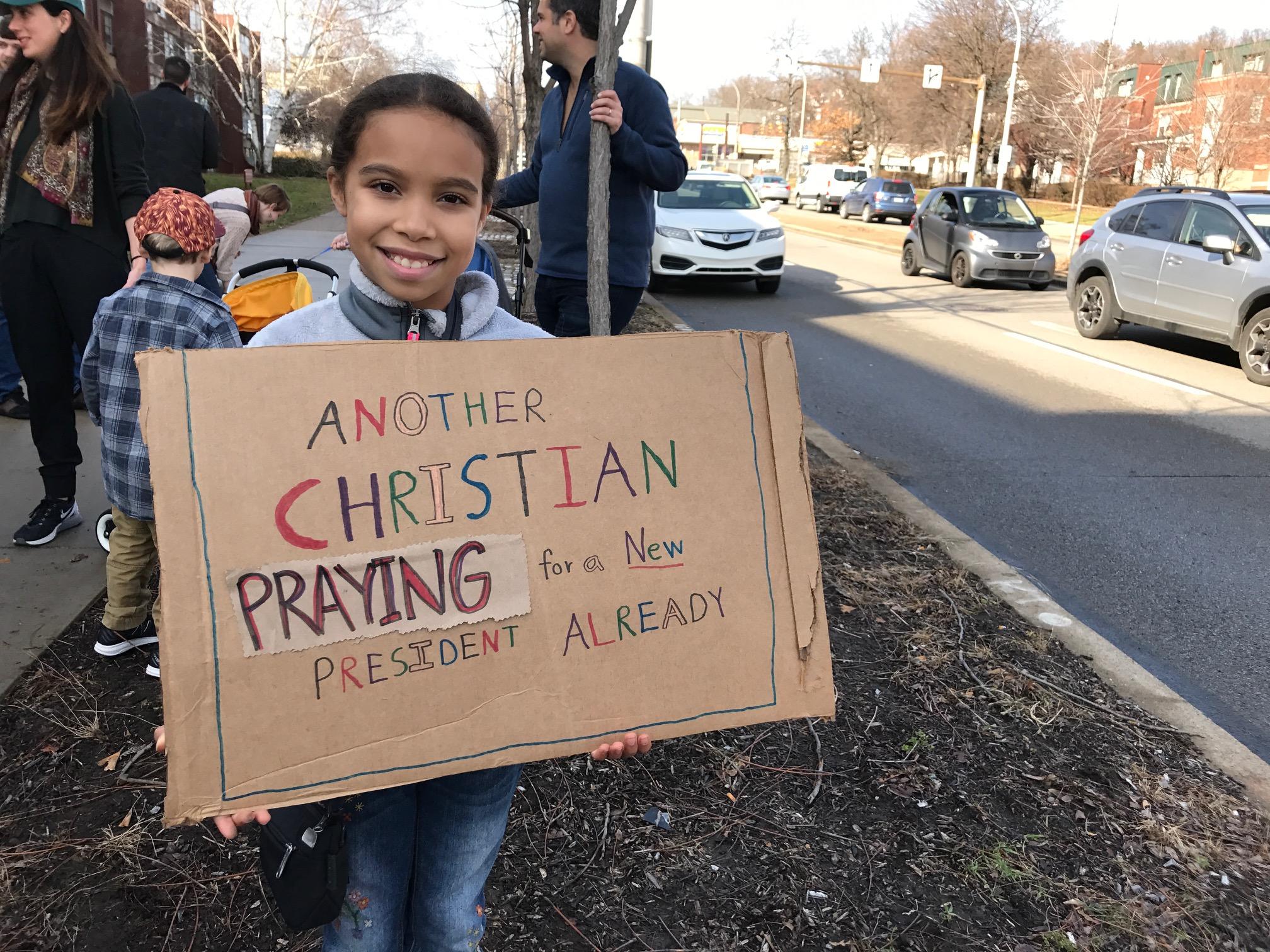 "Oceana, of Highland Park,""I made this sign myself."""