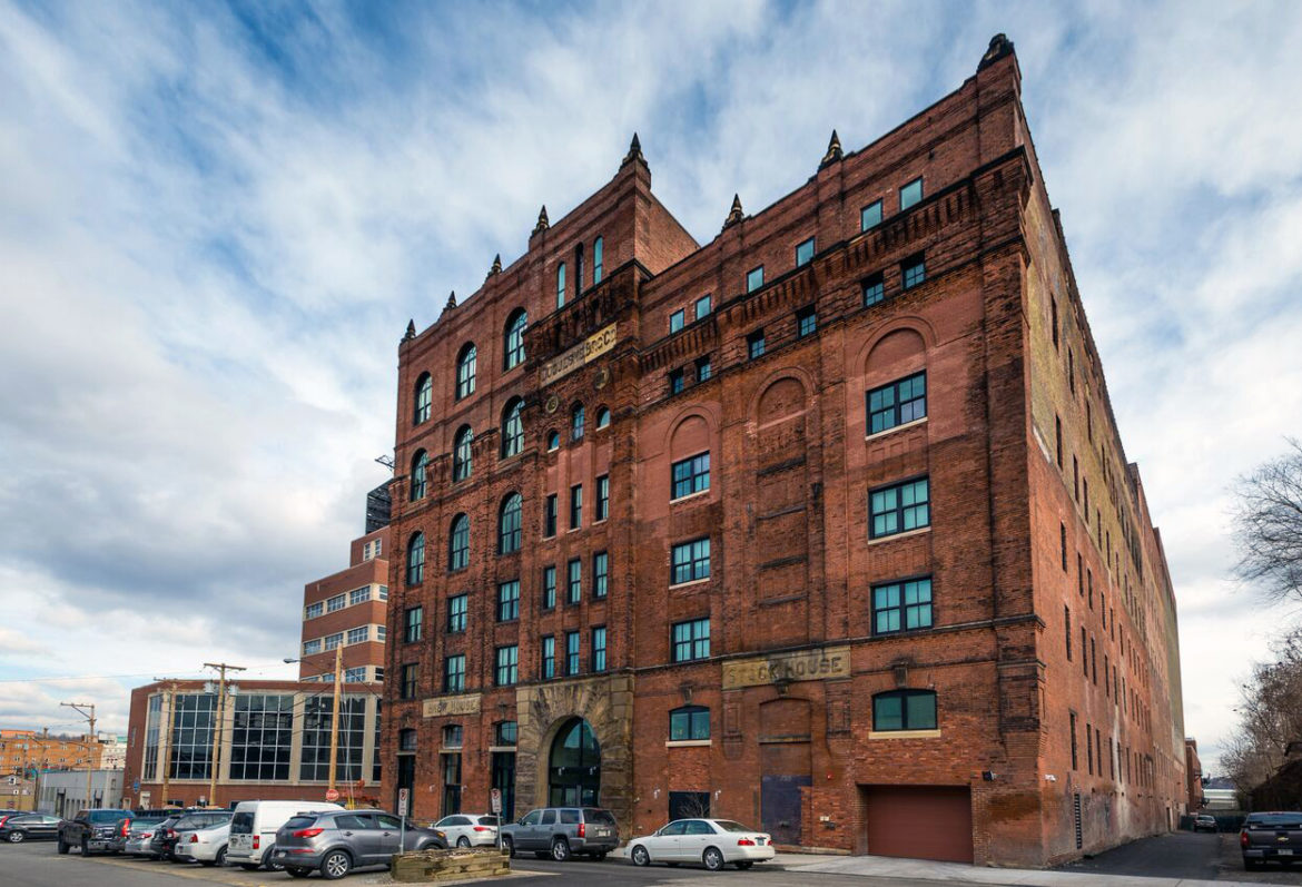 large red brick building in South Side of Pittsburgh