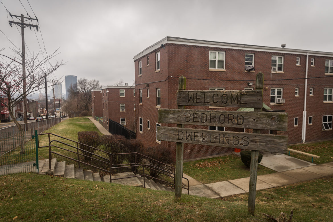 Bedford Dwellings is the oldest public housing community in Pittsburgh. (Photo by Maranie Rae Staab/PublicSource)