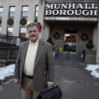 Munhall Mayor Rick Brennan stands outside the borough's municipal building. (Photo by Ryan Loew/PublicSource)