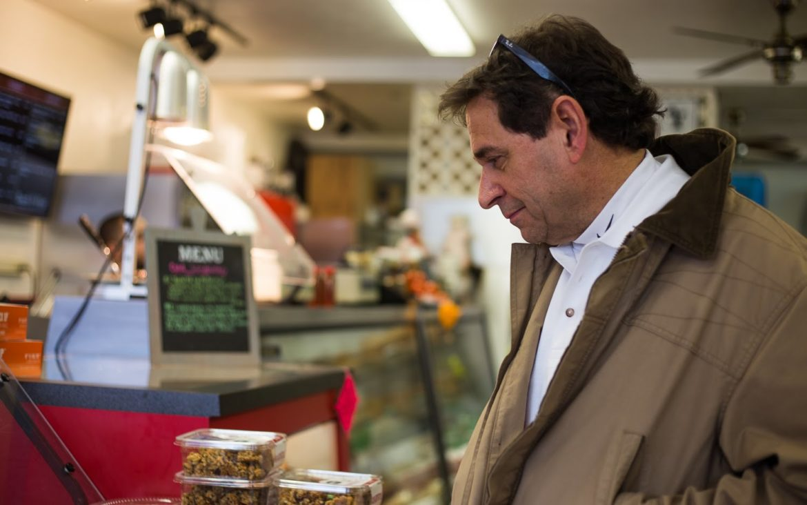 Jim Caprio, of Upper Saint Clair, shops at Family Deli in Bethel Park. (Photo by John Hamilton/PublicSource)