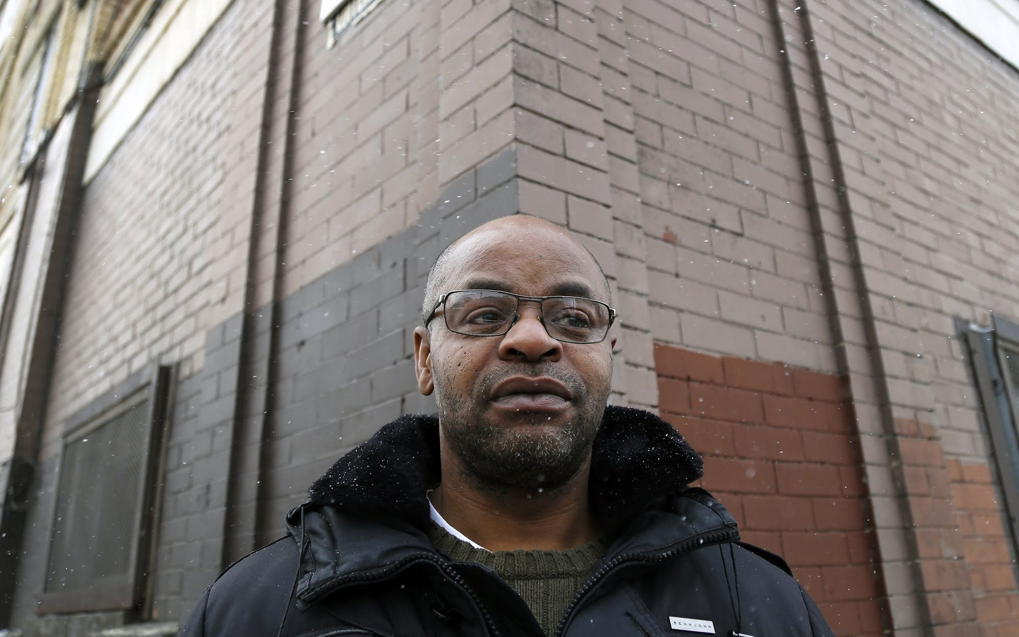 Tyrone Goodwin, 52, outside his apartment building in Homewood. (Photo by Ryan Loew/PublicSource)