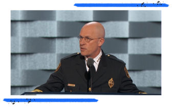 Former Pittsburgh Police Chief Cameron McClay. (Screen grab from 2016 Democratic National Convention speech)