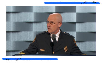 Former Chief of Pittsburgh's Bureau of Police Cameron McClay. (Screen grab from 2016 Democratic National Convention)
