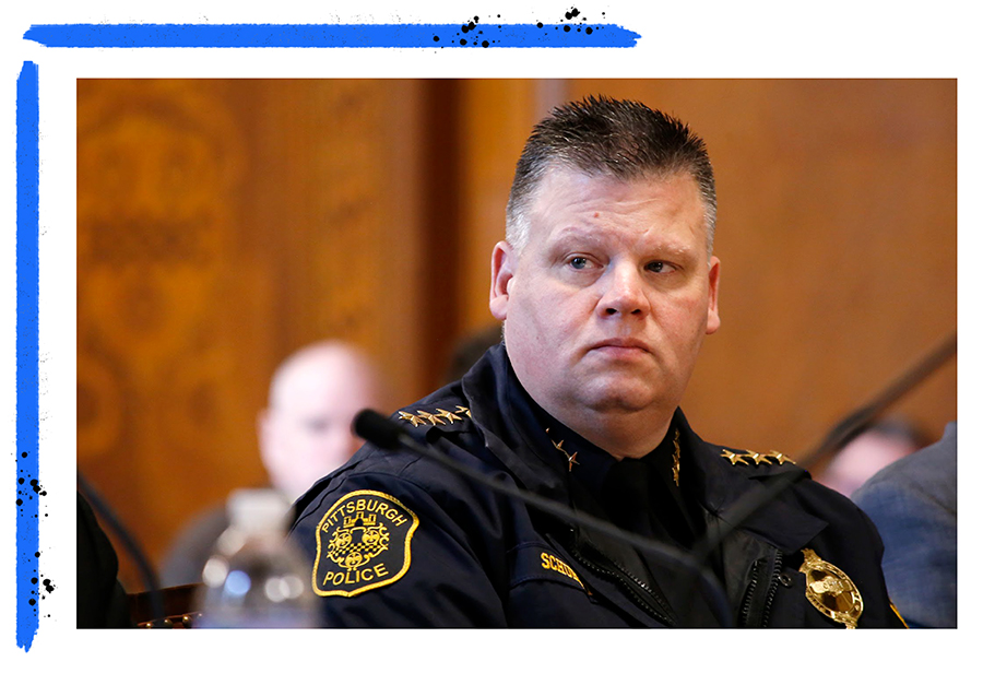 Pittsburgh Police Chief Scott Schubert. (Photo by Ryan Loew/PublicSource)