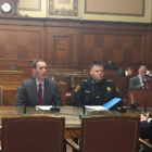 Lee Haller, Director of the Department of Innovation & Performance (left) and Chief of Police Scott Schubert (right), testify before City Council on Wednesday. (Photo by J. Dale Shoemaker/PublicSource)