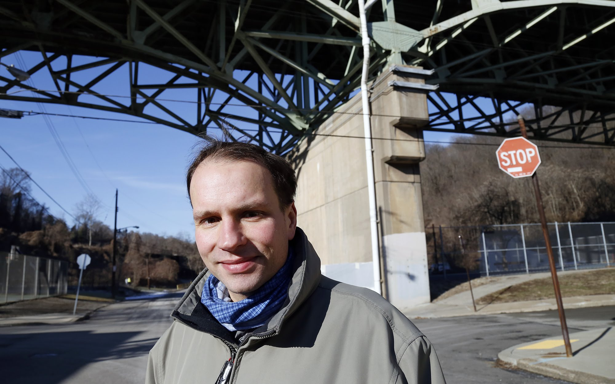 Klaus Libertus, a University of Pittsburgh researcher, has lived in The Run since 2015. (Photo by Ryan Loew/PublicSource)