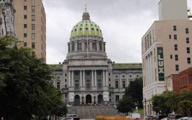 The Pennsylvania State Capitol building.