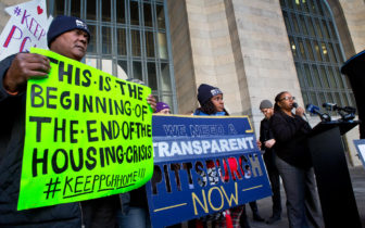 There were several demonstrations and discussions about the lack of transparency by the city and other parties to the Pittsburgh Amazon HQ2 bid.