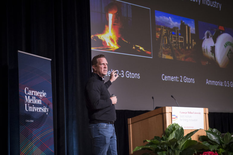 David Danielson, the managing director at Breakthrough Energy Ventures, said that his fund is only looking to invest in really huge potential solutions to climate change. (Courtesy of Carnegie Mellon University/April 5, 2018)