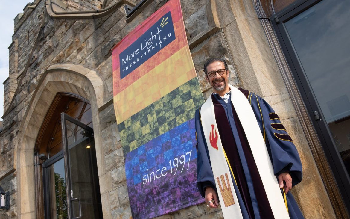 The Rev. Vincent Kolb is pastor at Sixth Presbyterian Church in Squirrel Hill. (Photo by Terry Clark/PublicSource)
