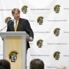 Allegheny County Executive Rich Fitzgerald speaks at an event at Montour Elementary School on Feb. 22. (Photo by Ryan Loew/PublicSource)