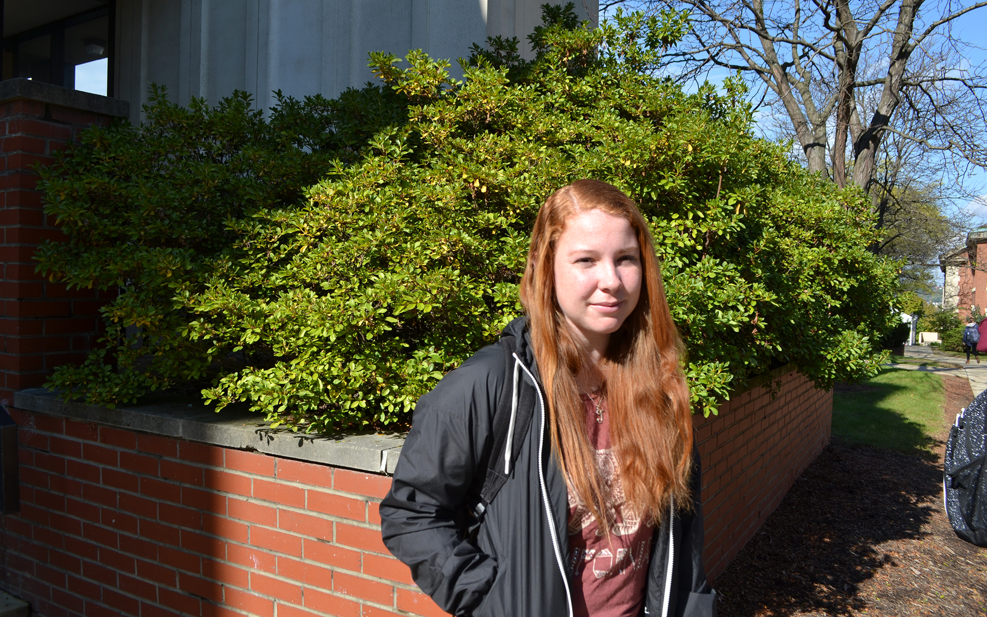 Julie Swedberg is a student at Chatham University. (Photo by Kinsley Stocum/PublicSource)