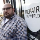 Zack Block is the executive director of Repair the World Pittsburgh. (Photo by Ryan Loew/PublicSource)