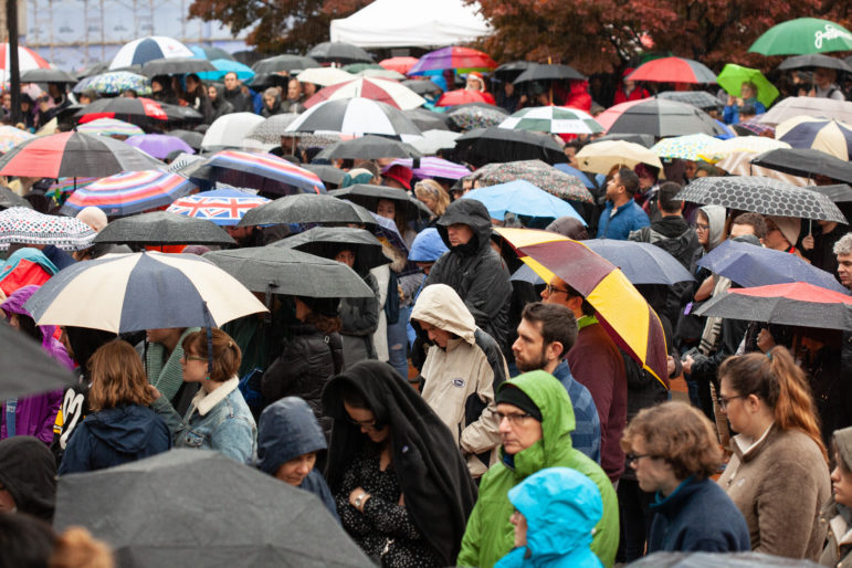 Thousands showed up to Sunday's interfaith vigil.