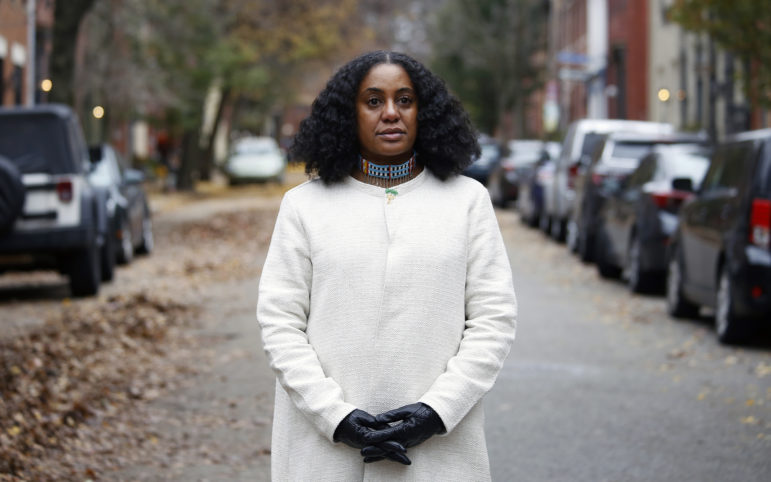 """The entire community should grieve over the Tree of Life tragedy, writes Tereneh Idia, but she wonders: """"Why is there such a double standard? If all lives matter, why aren't Black lives mourned this way?"""" (Photo by Ryan Loew/PublicSource)"""