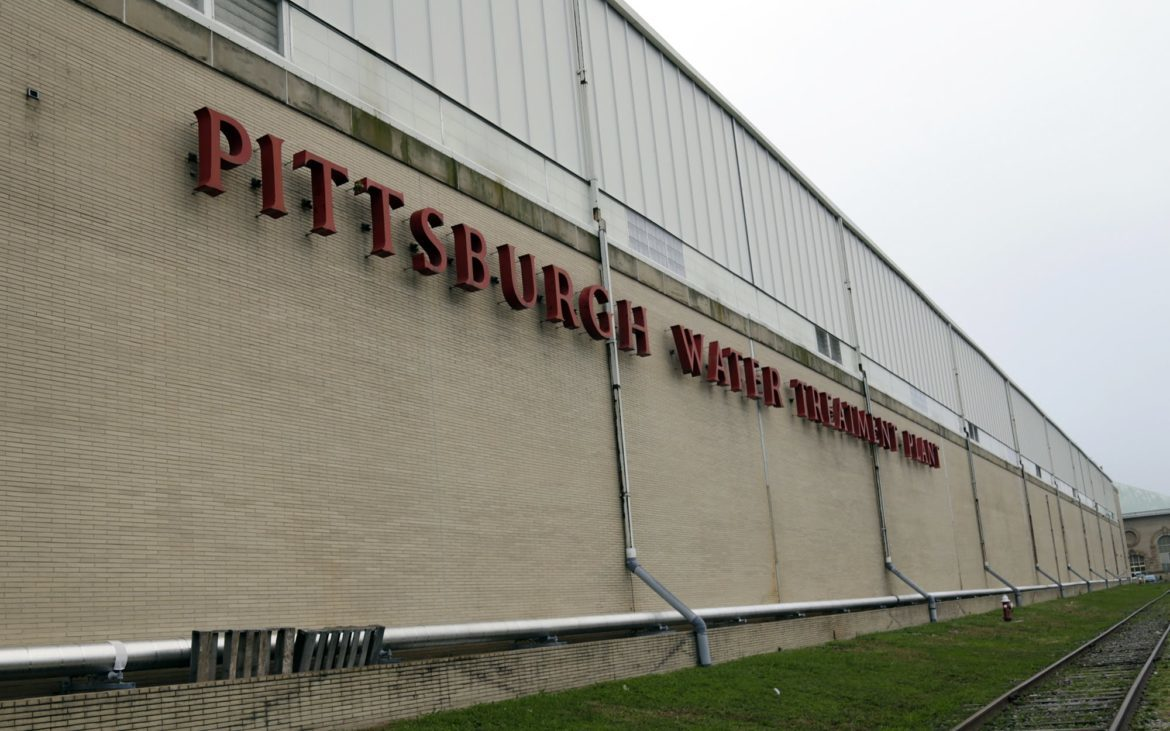 The Pittsburgh Water and Sewer Authority's water treatment plant in Lincoln–Lemington–Belmar. (Photo by Ryan Loew/PublicSource)