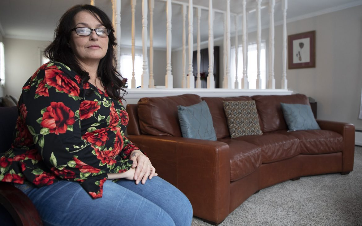 Cathy Welsh chose to not go to therapy after her son's murder last year and mother's suicide when she was 19. Rather, she turned to volunteer work to help others in vulnerable positions and advocate against gun violence. (Photo by Kat Procyk/PublicSource)