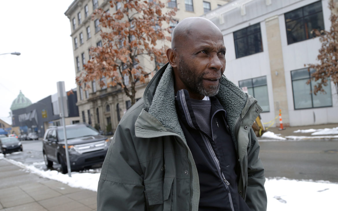Foster Tarver, 68, was released from prison in June 2018 after the possibility of parole was added to his mandatory life sentence. He'd hoped to find a place to live through the Housing Authority of the City of Pittsburgh but was denied because of his conviction. (Photo by Ryan Loew/PublicSource)