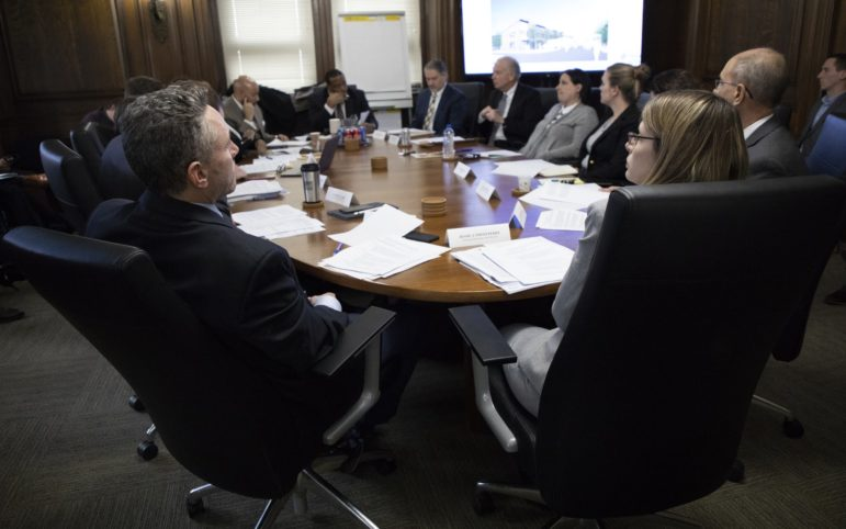 A meeting for the Urban Redevelopment Authority of Pittsburgh. Photo by Kat Procyk/PublicSource)