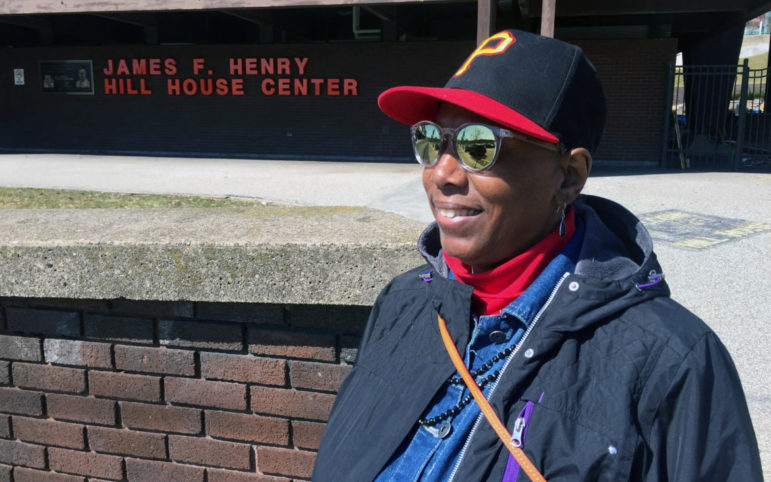 Meta Hairston, retired special education teacher, is skeptical that new plans for the old Civic Arena will fulfill promises made to the black community. (Photo by Tom Lisi/PublicSource)