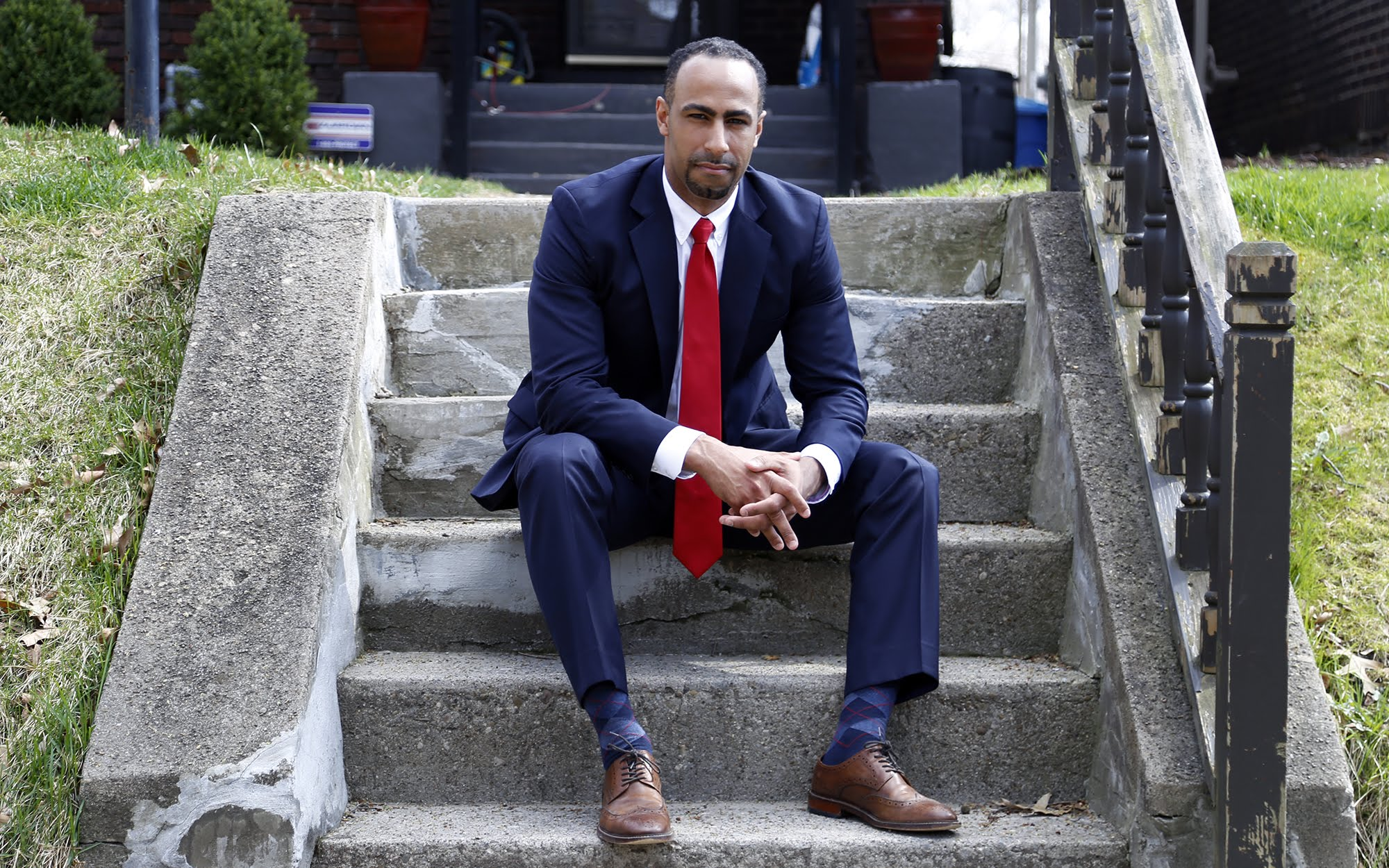 Gerald S. Dickinson, a 32-year-old law professor at the University of Pittsburgh, announced on Wednesday his intention to to challenge U.S. Rep. Mike Doyle in the Democratic primary in Pennsylvania's 18th congressional district. (Photo by Ryan Loew/PublicSource)