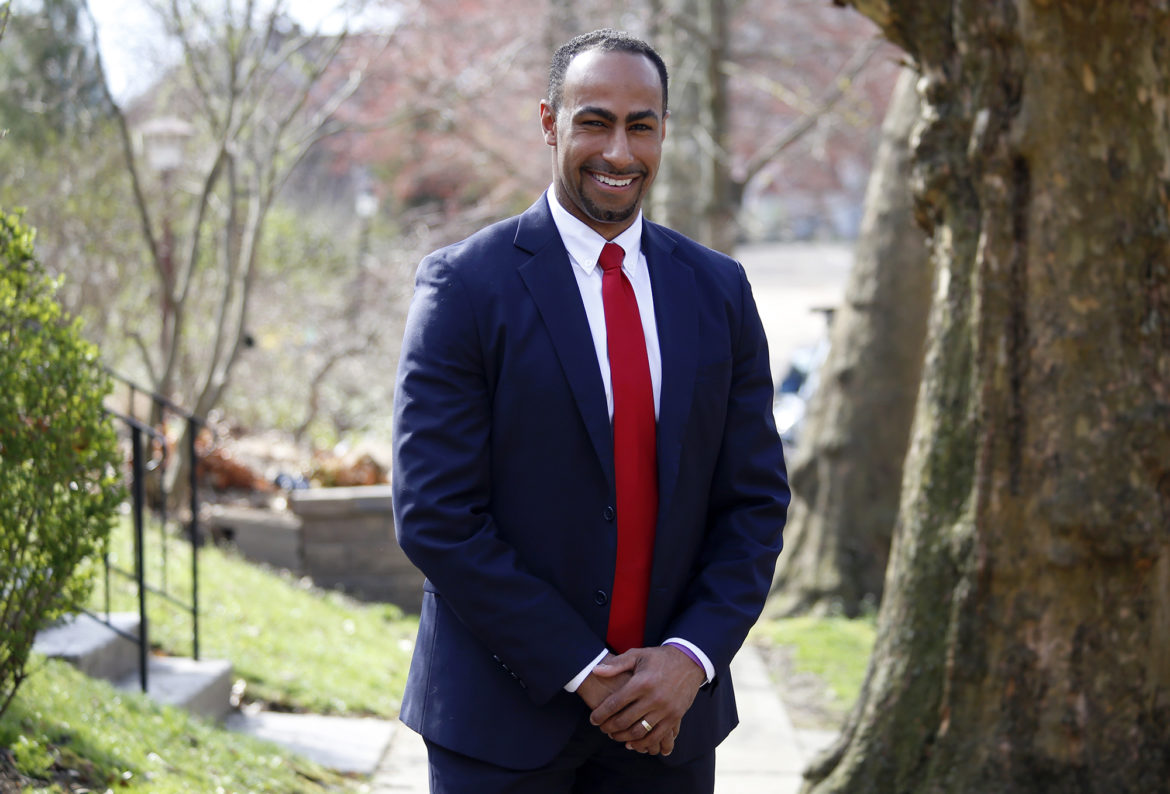 Gerald Dickinson, a 32-year-old law professor at the University of Pittsburgh, plans to to challenge U.S. Rep. Mike Doyle in the 2020 Democratic primary election. (Photo by Ryan Loew/PublicSource)
