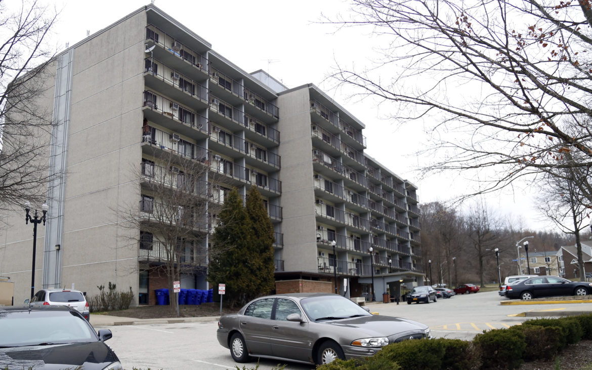 The Bernice Crawley high-rise. Like Glen Hazel, renovations will be based on the condition of the 97 units inside. Residents won't be moved unless they require special accommodations. (Photo by Ryan Loew/PublicSource)