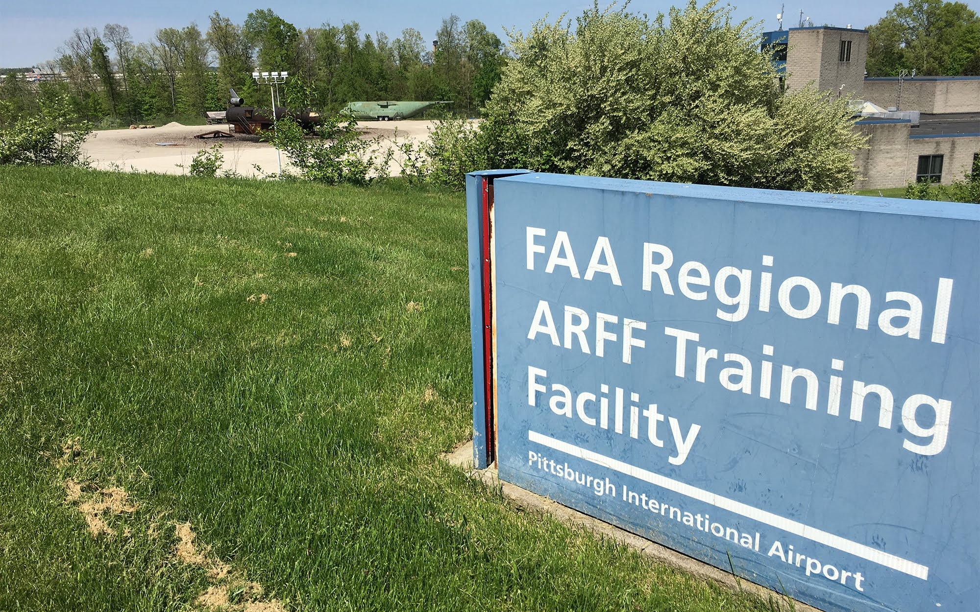 "A PFAS expert said it's ""almost a guarantee"" that there is PFAS contamination near the fire training facility at Pittsburgh International Airport. (Photo by Oliver Morrison / PublicSource)"