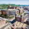 A rendering of a proposed retail and office space development in the Strip District at the intersection of Smallman and 21st streets. (Image from the Planning Commission)