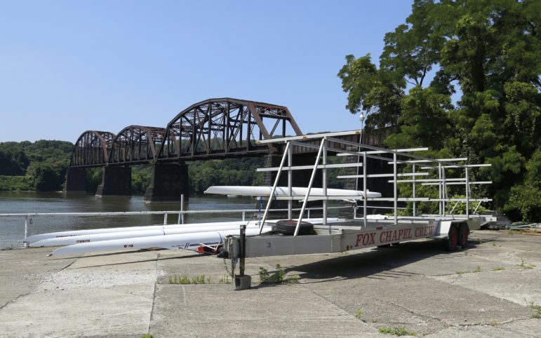 In March, the Fox Chapel Area school board approved a $60,000 advance to build a new dock at Aspinwall Riverfront Park for use by Fox Chapel Crew. (Photo by Ryan Loew/PublicSource)