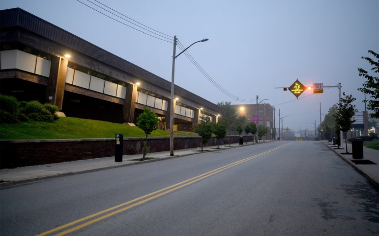 The Hill House Center sits along Centre Avenue in the Hill District early Friday morning, June 28, 2019. (Photo by Justin Merriman/PublicSource)