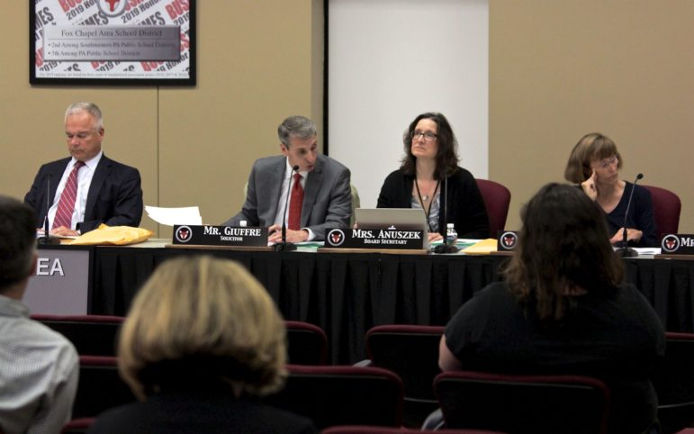 The Fox Chapel Area School District began posting meeting agendas online in advance of board meetings in September 2018. (Photo by Jay Manning/ PublicSource)