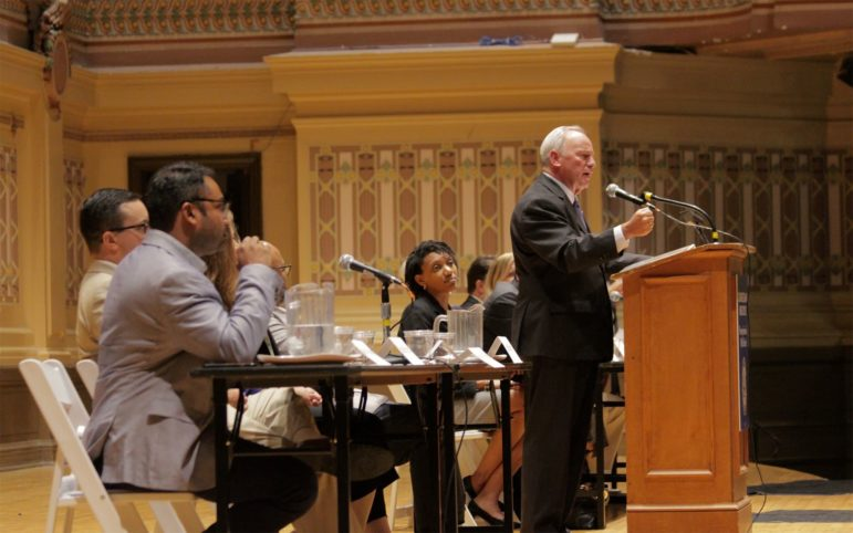 Congressman Mike Doyle Addresses the audience on his agenda on Climate Change.