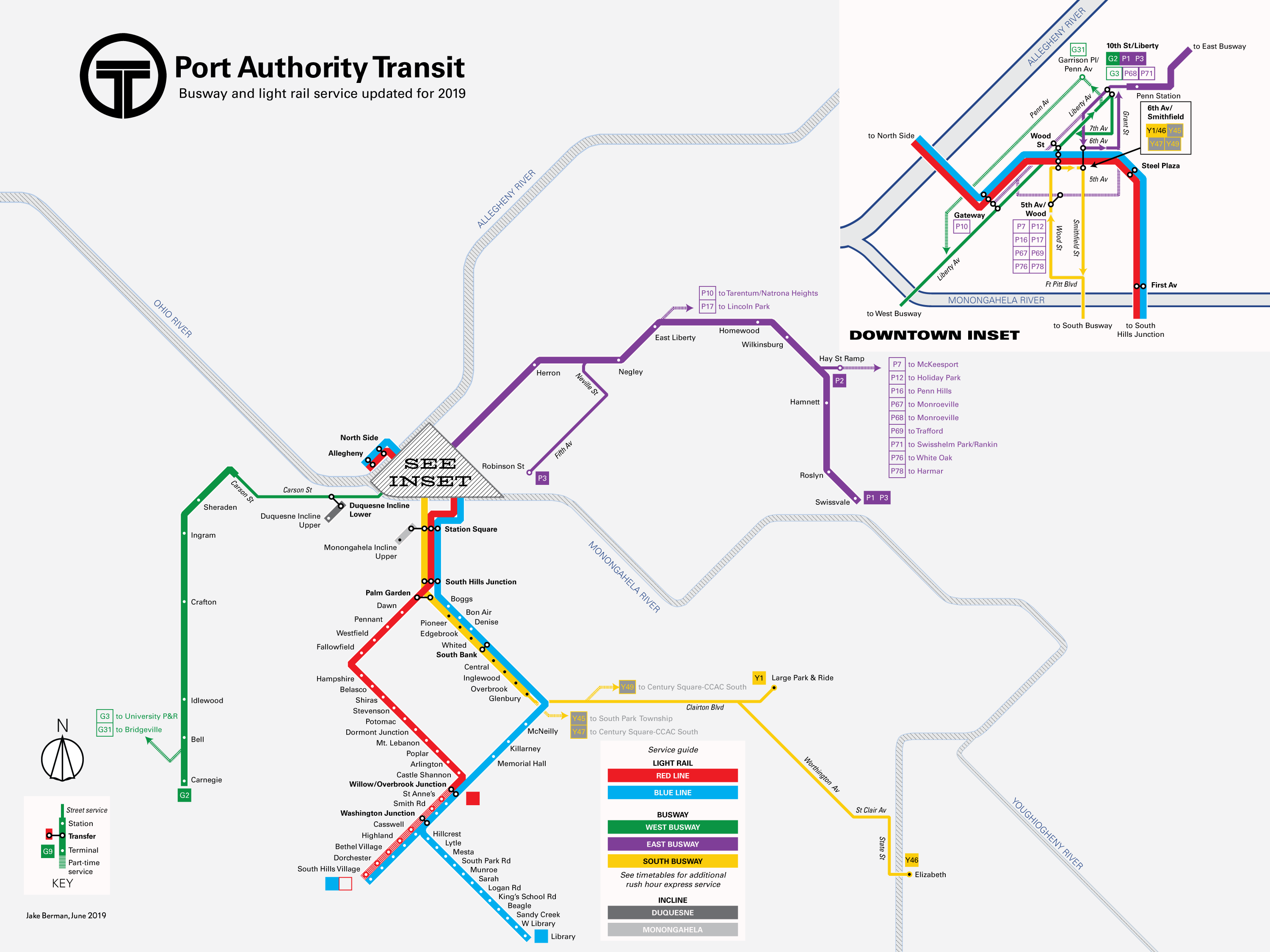 Mapping Pittsburgh-area transit from streetcars and