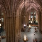 The Cathedral of Learning is one of at least 25 buildings that the University of Pittsburgh prioritized for energy renovations to reduce greenhouse gas emissions. (Photo by Terry Clark/PublicSource)
