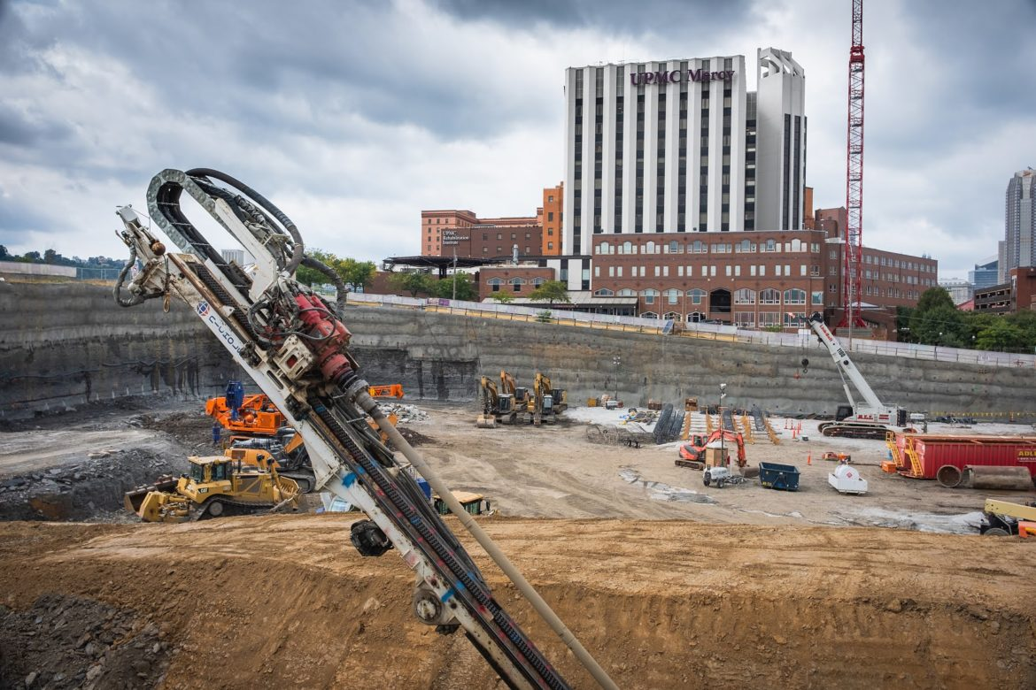 UPMC worked with city planners to reduce energy usage at the forthcoming Vision and Rehabilitation center. (Photo by Terry Clark/PublicSource)