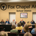 Members of the Fox Chapel Area School District board met on Sept. 9, 2019. (Photo by Nick Childers/ PublicSource)