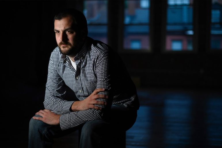 """As suicide rates and mental health diagnoses continue to rise, especially among youth, shouldn't we be looking at different ways of doing things? Isn't that an imperative?"" -Mike McCarthy, 32, of Mt. Washington (Photo by Justin Merriman/PublicSource)"