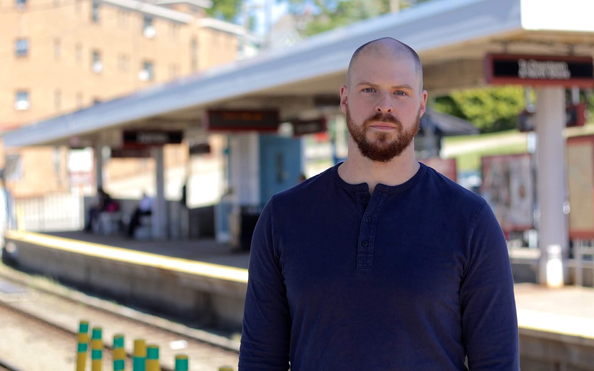 Seth Davis, Dormont resident and former planning commission member, stands at Dormont Junction